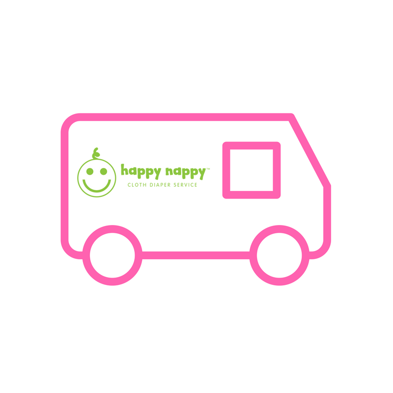 Happy Nappy Pink Van