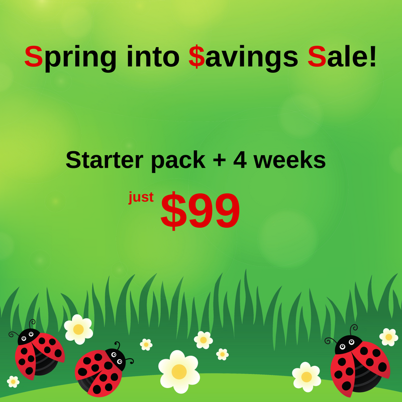 Spring into Savings Sale